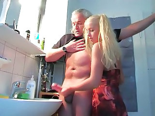 Handjob Old and Young Bathroom Old And Young Bathroom