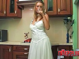 Russian Bride Drunk Kitchen  Russian Milf