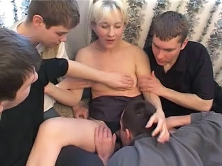 Blonde Gangbang Licking Mature Mom Old and Young Russian