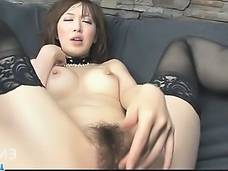 Asian Babe Hairy Masturbating Dirty