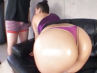 Amazing Asian Ass Japanese  Oiled Panty