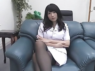 Amazing Asian Brunette  Stockings Sister