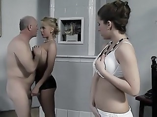 Daddy Old and Young Teen Threesome