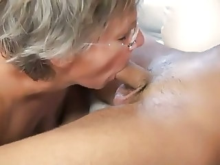 Blowjob European French Glasses Mature French