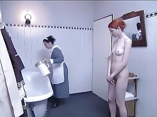 Bathroom European Lesbian Maid Teen Uniform