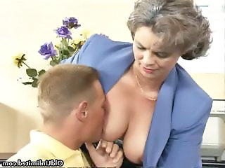 Mature Mom Office Old and Young Secretary Dirty