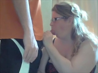 Amateur Blowjob Chubby Glasses Homemade Mature Wife