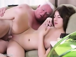 Daddy Daughter Old and Young Shaved Small Tits Teen Virgin