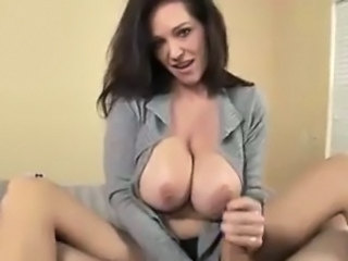 Babe Big Tits Brunette Handjob  Natural