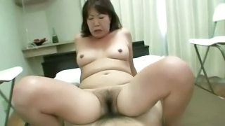 Asian Hairy Mature Riding
