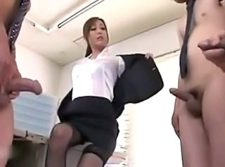 Secretary Asian Japanese  Office Small cock Stockings Stripper Threesome
