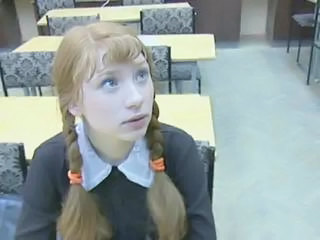 Student Pigtail Redhead Russian School Teen