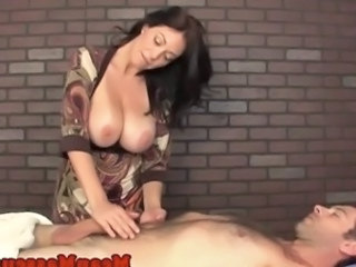 Big Tits Handjob Massage  Natural Monster