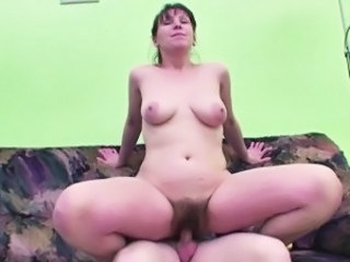 Hairy Mature Mom Old and Young Riding German
