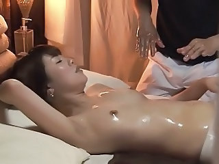 Asian Massage  Oiled Small Tits