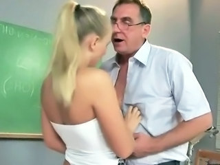 Blonde Daddy Old and Young Student Teacher Teen