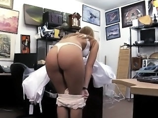 Amateur Ass Bride  Office Wedding Dress
