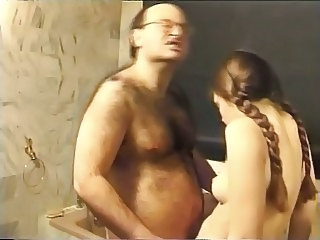 Bathroom Daddy Old and Young Pigtail Teen