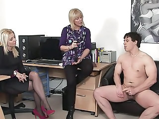 Blonde  Mature Office Old and Young