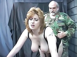 Army Big Tits Daddy  Natural Old and Young Slave Tattoo Torture Bdsm