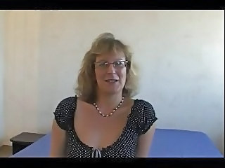 Amateur European French Glasses Mature Mom French