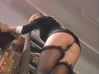 Stockings Teacher Upskirt Ass