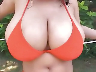 Asian Big Tits Bikini  Outdoor