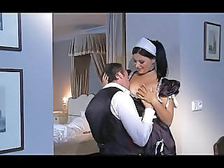 Babe Brunette Maid Uniform Vintage