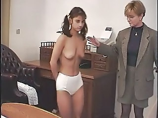 Old and Young Panty Pigtail Student Teacher Teen