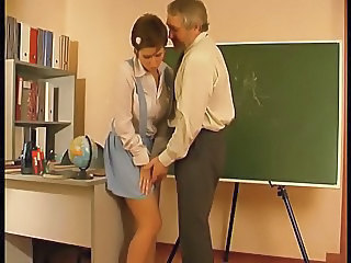 Daddy Old and Young Russian School Skirt Student Teen Schoolgirl