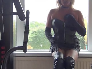 Amateur British Corset European Homemade Latex  Leather