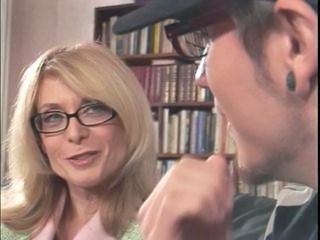 Blonde Glasses Mature Mom Old and Young Teacher Vintage