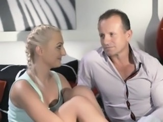 Daddy Babysitter Blonde Old and Young Teen