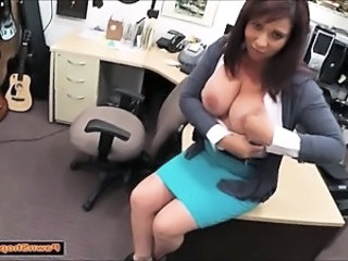 Amateur Big Tits  Office Secretary Skirt