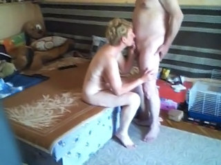 Blonde Blowjob HiddenCam Mature Older Voyeur Wife