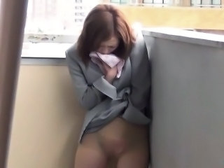 Asian  Outdoor Pantyhose