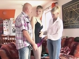 Daughter Family Mom Old and Young Threesome Family