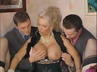 Big Tits Blonde Mature Mom Old and Young Pornstar Silicone Tits Threesome Vintage