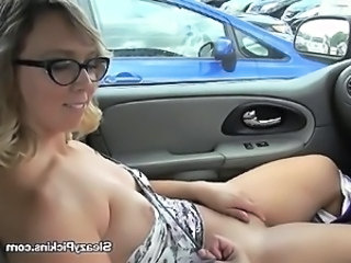 Blonde Car Cute Glasses  Public Public