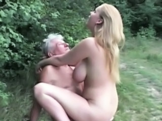 Big Tits Blonde Daddy Daughter Old and Young Outdoor Grandpa Huge