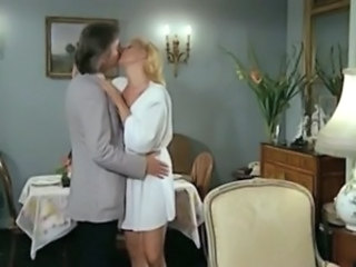 Blonde European French Kissing  Vintage Wife French