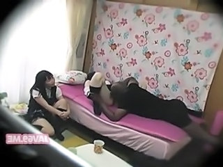 HiddenCam Student Japanese Threesome Uniform Asian Clothed Licking Teen Voyeur