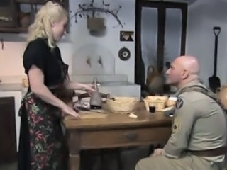 Army Blonde European Italian Kitchen Vintage Wife Housewife