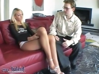 Amazing Blonde Cute Legs Pornstar