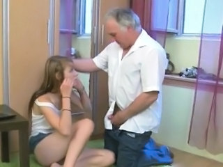 Daddy Daughter Old and Young Small cock Teen
