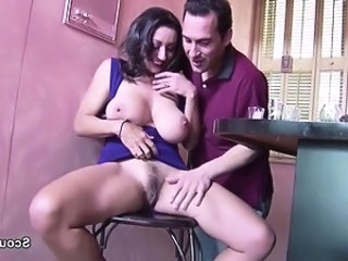 Amazing Big Tits Brunette Hairy  Natural Pornstar Pussy Mother
