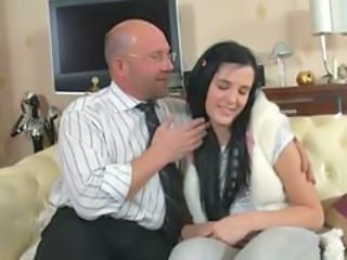 Brunette Daddy Old and Young Teacher Teen
