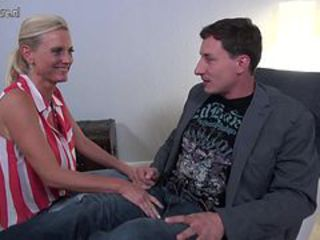 Blonde European German Mature Mom Old and Young Dirty German