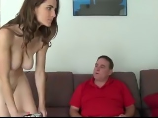 Brunette Cute Daddy Daughter Old and Young Teen Daughter Daddy