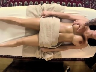 Massage  Oiled Silicone Tits
